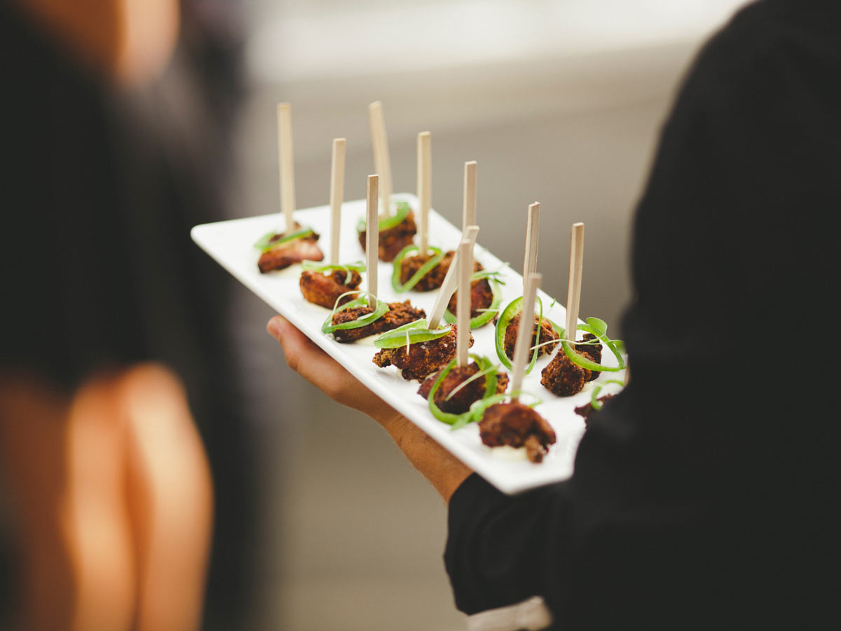 Canape railtown catering for Canape reception
